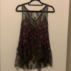 Free People Rose Camisole - Charcoal